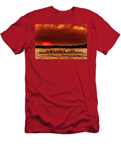 Rowing In The Sunset Men's T-Shirt (Athletic Fit)