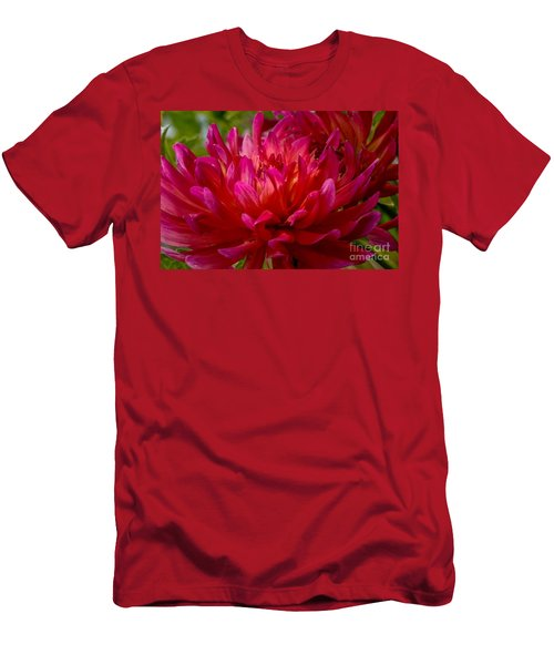 Ruby Red Dahlia Men's T-Shirt (Athletic Fit)