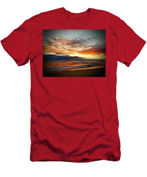 Men's T-Shirt (Athletic Fit) featuring the photograph Early Autumn Morning by Don Moore