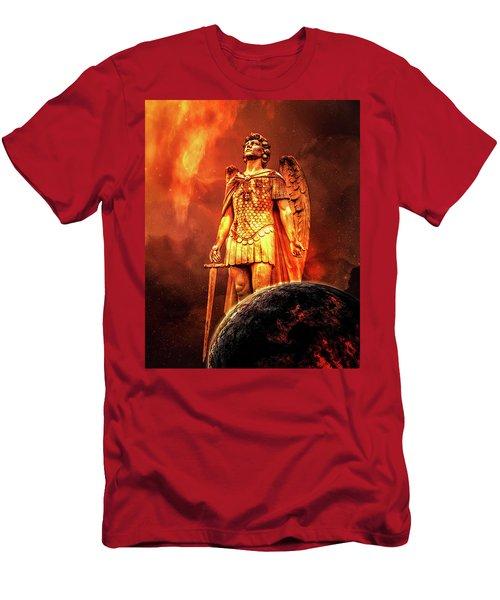 Men's T-Shirt (Athletic Fit) featuring the photograph Saint Michael by Michael Arend