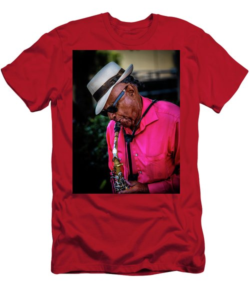 Sax On The Street Men's T-Shirt (Athletic Fit)