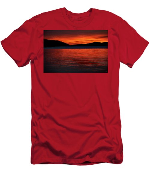 Men's T-Shirt (Athletic Fit) featuring the photograph Scarlet by Doug Gibbons