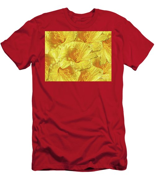 Selective Yellow Lilies Men's T-Shirt (Athletic Fit)