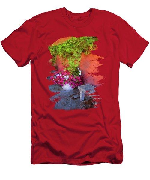 Sidewalk Floral In Brownsville Men's T-Shirt (Athletic Fit)