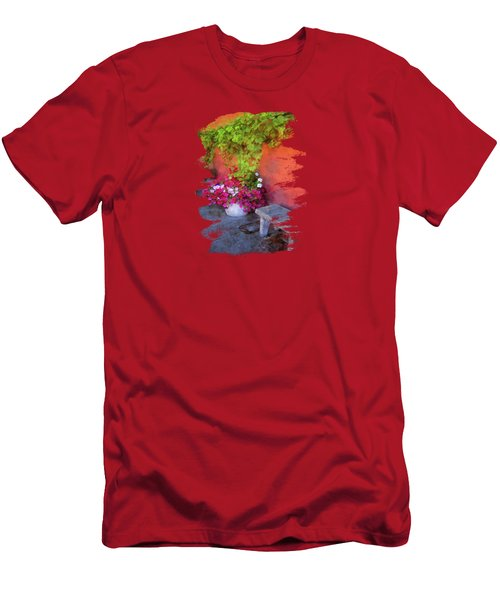 Sidewalk Floral In Brownsville Men's T-Shirt (Athletic Fit)
