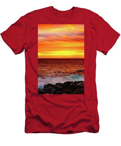 Simple Warm Splash Men's T-Shirt (Athletic Fit)