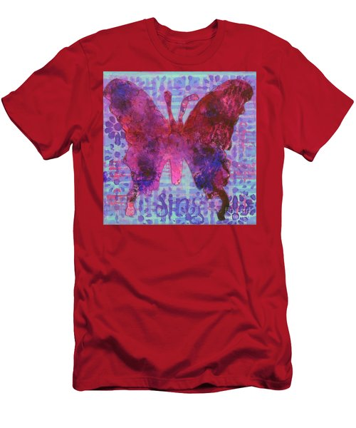 Sing Butterfly Men's T-Shirt (Athletic Fit)