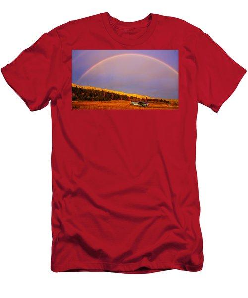 Skylane Rainbow Men's T-Shirt (Athletic Fit)