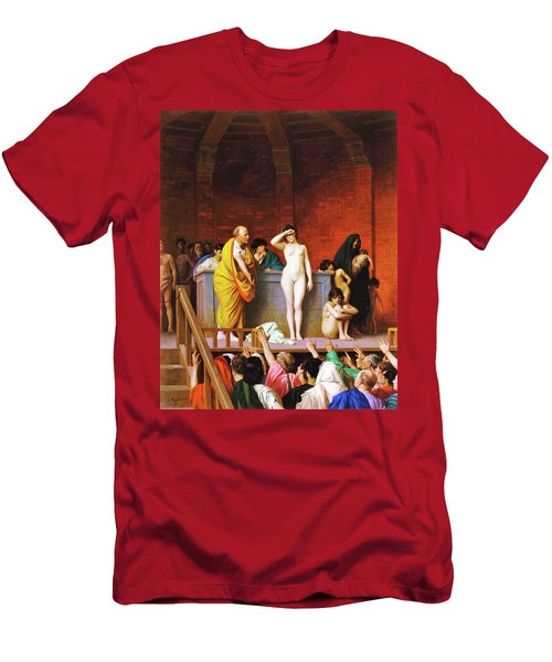 Slave Market In Ancient Rome - Digital Remastered Edition Men's T-Shirt (Athletic Fit)