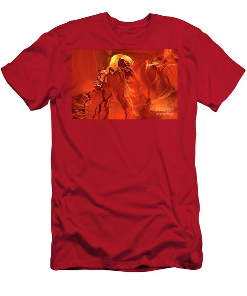Slot Canyon Formations In Upper Antelope Canyon Arizona Men's T-Shirt (Athletic Fit)