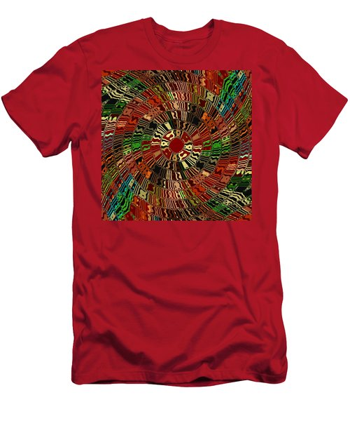 Southwestern Sun Swirl Men's T-Shirt (Athletic Fit)