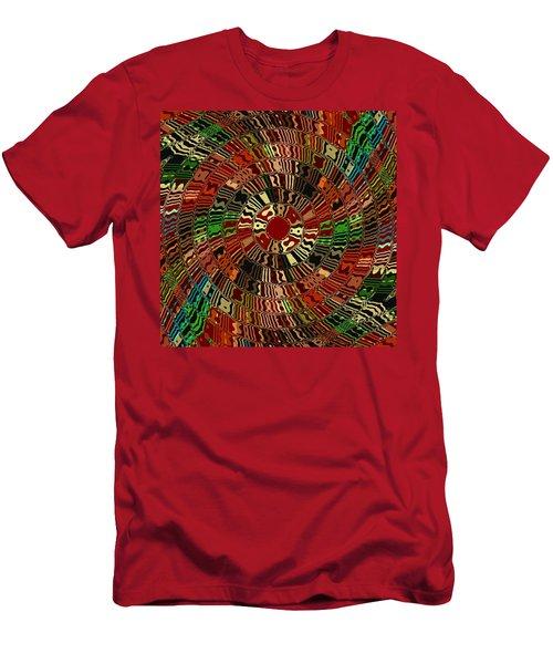Southwestern Sun Swirl Men's T-Shirt (Athletic Fit)