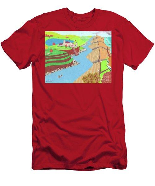 Spanish Wells Men's T-Shirt (Athletic Fit)