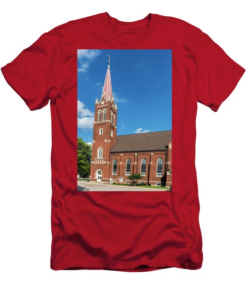 Men's T-Shirt (Athletic Fit) featuring the photograph St. Wenceslaus Catholic Church by Edward Peterson
