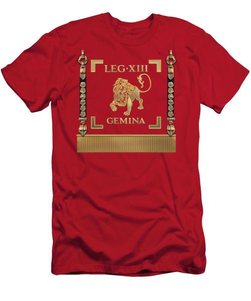 Standard Of The 13th Legion Geminia - Vexillum Of 13th Twin Legion Men's T-Shirt (Athletic Fit)