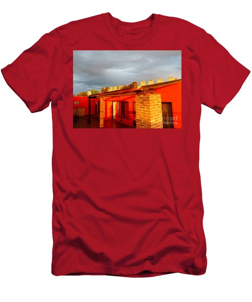 Men's T-Shirt (Athletic Fit) featuring the photograph Storm Brewing, Sun Setting by Rosanne Licciardi