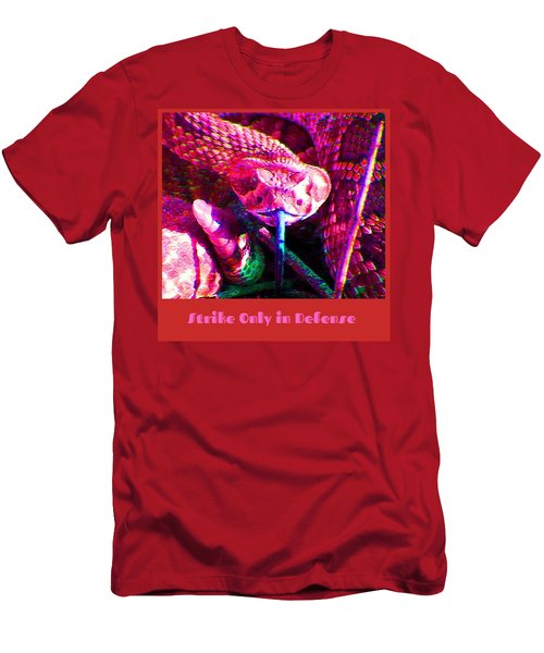 Men's T-Shirt (Athletic Fit) featuring the photograph Strike Only In Defense by Judy Kennedy