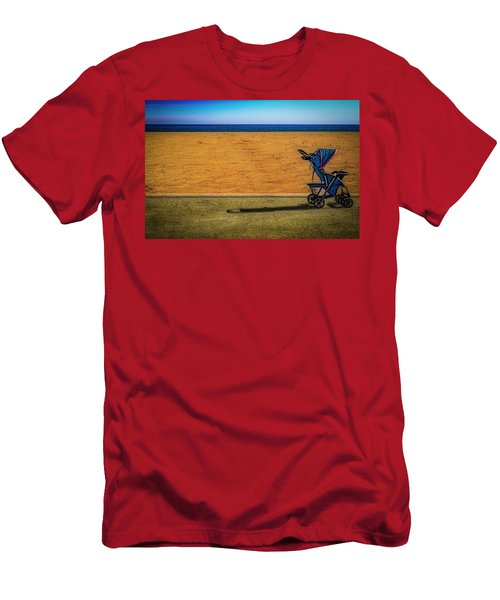 Stroller At The Beach Men's T-Shirt (Athletic Fit)
