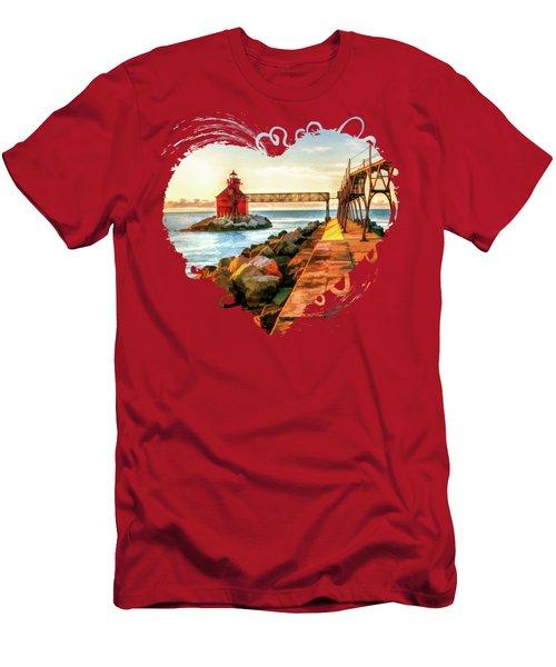 Sturgeon Bay Canal Pierhead Light Men's T-Shirt (Athletic Fit)