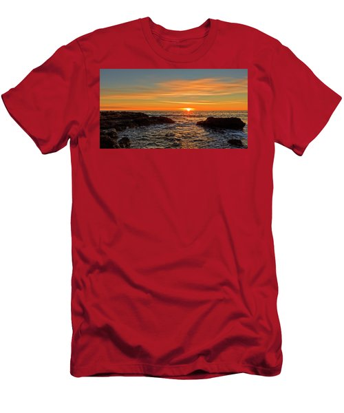 Sunrise By The Mediterranean Sea In Oropesa, Castellon Men's T-Shirt (Athletic Fit)