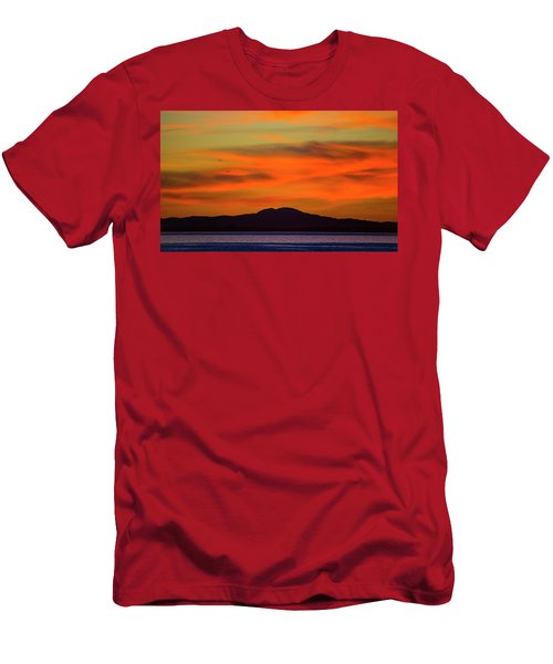 Sunrise Over Santa Monica Bay Men's T-Shirt (Athletic Fit)