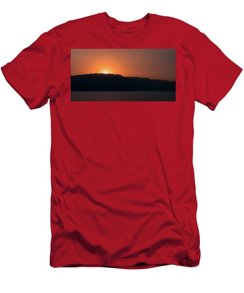 Sunset At Over The Mountains In The Red Sea Men's T-Shirt (Athletic Fit)