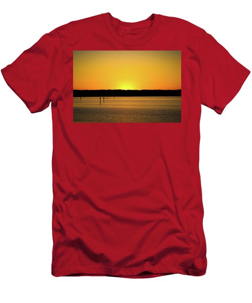 Sunset From National Harbor Men's T-Shirt (Athletic Fit)