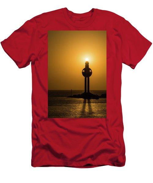 Sunset In Port Jeddah, Saudi Arabia Men's T-Shirt (Athletic Fit)