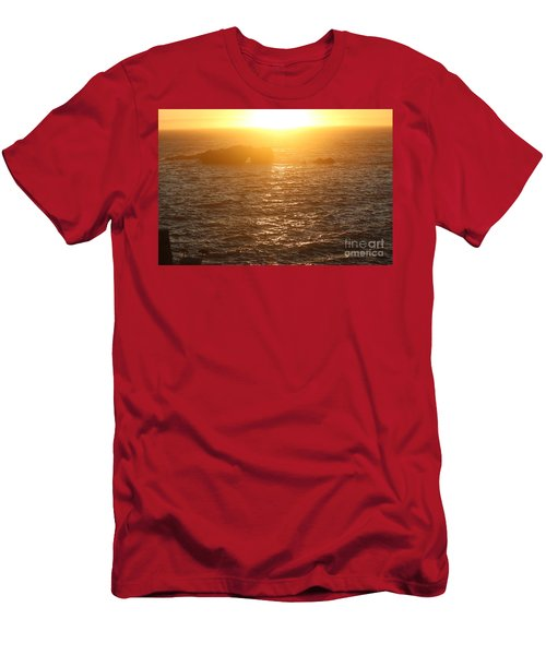 Sunset On The Coast Men's T-Shirt (Athletic Fit)