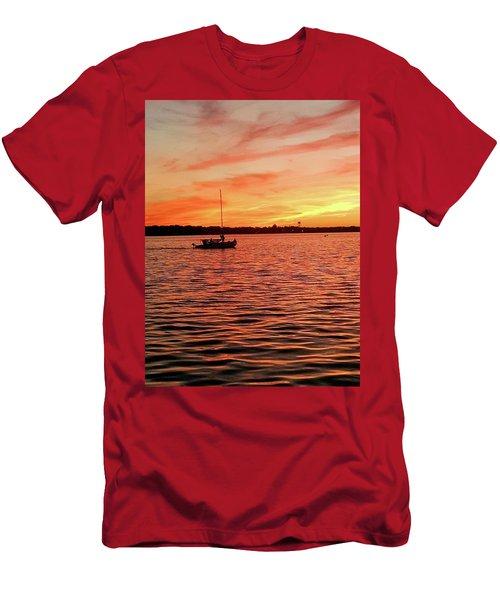 Sunset Sail Men's T-Shirt (Athletic Fit)