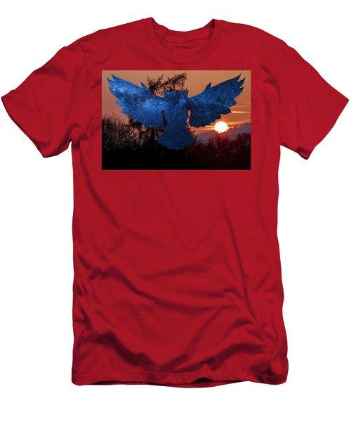 Sunset Owl Men's T-Shirt (Athletic Fit)