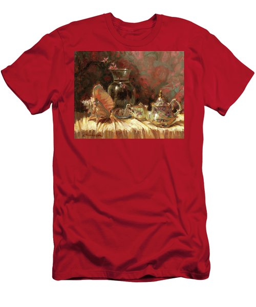 Men's T-Shirt (Athletic Fit) featuring the painting Tea By The Sea by Steve Henderson