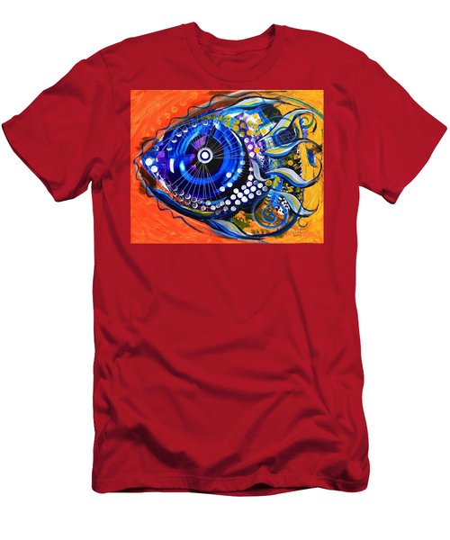Tenured Acrimonious Fish Men's T-Shirt (Athletic Fit)