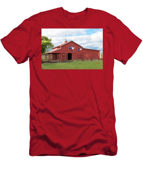 Texas Red Barn Men's T-Shirt (Athletic Fit)