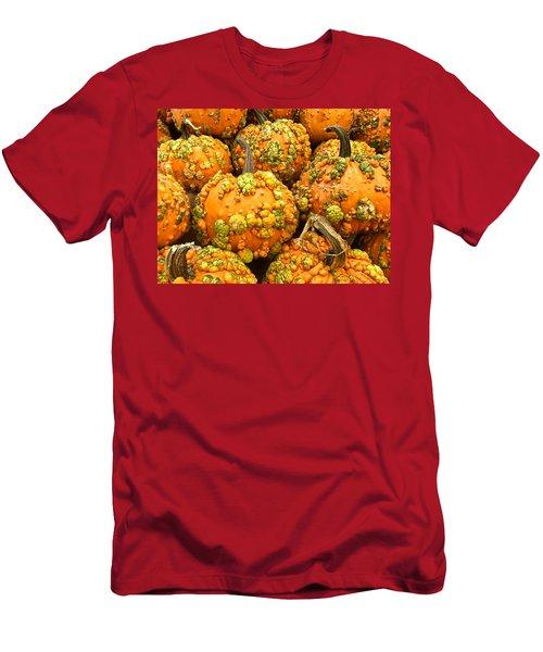 Textured Pumpkins  Men's T-Shirt (Athletic Fit)