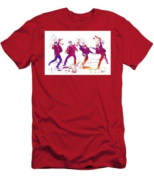 The Beatles Watercolor 01 Men's T-Shirt (Athletic Fit)