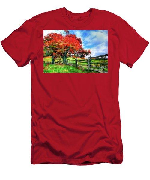 The Beauty Of A Blue Ridge Autumnl Ap Men's T-Shirt (Athletic Fit)