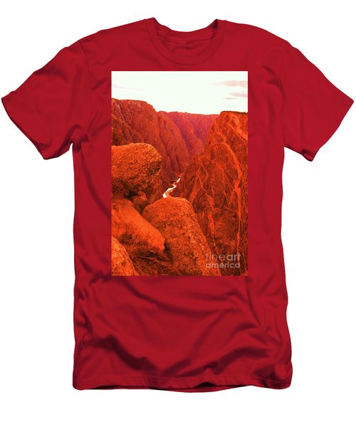 The Gunnison River From Top Of Black Canyon Men's T-Shirt (Athletic Fit)
