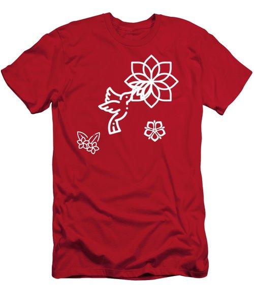 The Kissing Flower On Flower Men's T-Shirt (Athletic Fit)