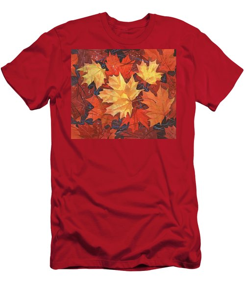 The Poem Of Autumn Leaves Men's T-Shirt (Athletic Fit)