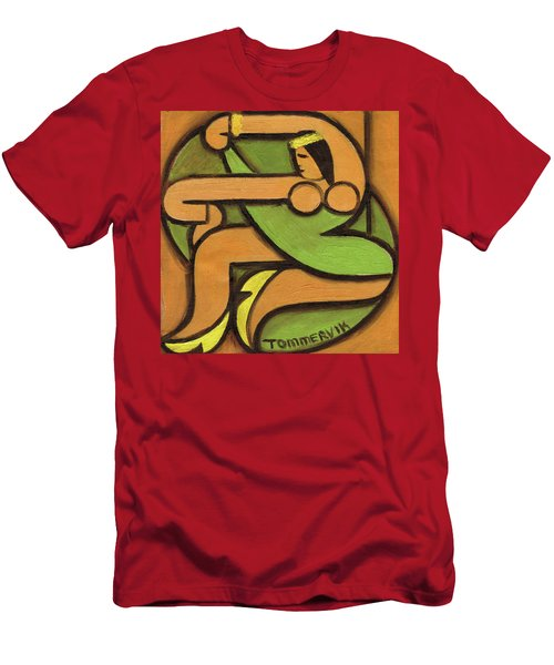 Tommervik Dancing Hawaiian Hula Girl Art Print Men's T-Shirt (Athletic Fit)