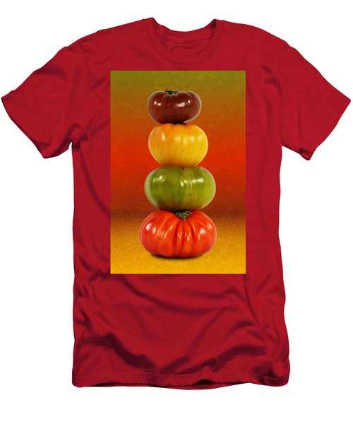 Tower Of Colorful Tomatoes Men's T-Shirt (Athletic Fit)