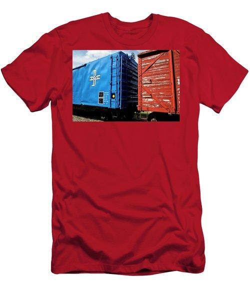 Train Cars Men's T-Shirt (Athletic Fit)