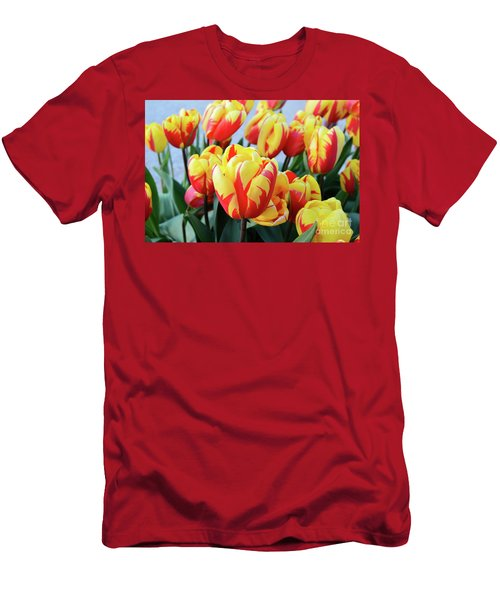 Tulips And Tiger Stripes Men's T-Shirt (Athletic Fit)