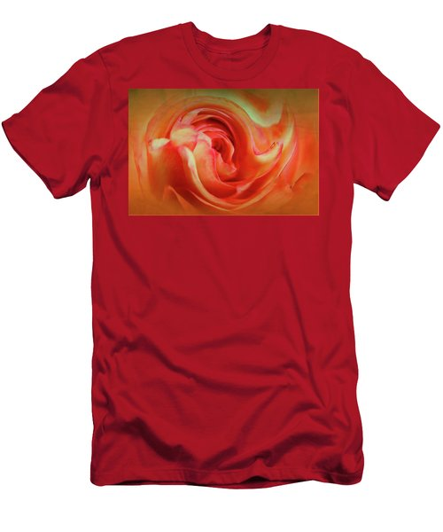 Twirling Rose Men's T-Shirt (Athletic Fit)