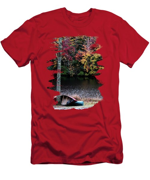 Two Canoes On An Autumn Day Men's T-Shirt (Athletic Fit)