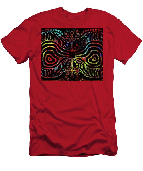Men's T-Shirt (Athletic Fit) featuring the drawing Under The Sea Digital Patterns Of Life by Joan Stratton