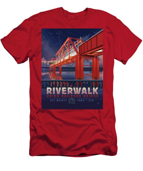 Union Railroad Bridge - Riverwalk Men's T-Shirt (Athletic Fit)