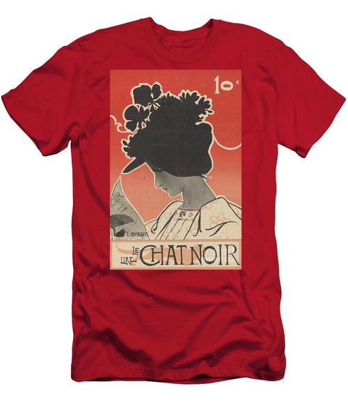Vintage Poster For Le Chat Noir Men's T-Shirt (Athletic Fit)