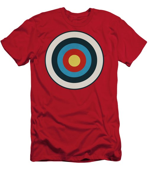 Vintage Target - Orange Men's T-Shirt (Athletic Fit)